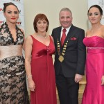Cllr Thomas Welby, Galway County Mayor with his wife Bernie & daughters Sharon & Louise